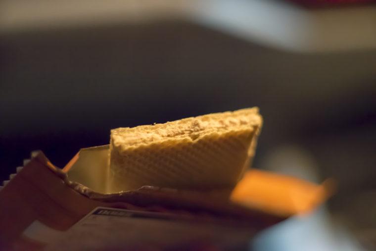 BABBIチョコレートウエハースキャラメル試食