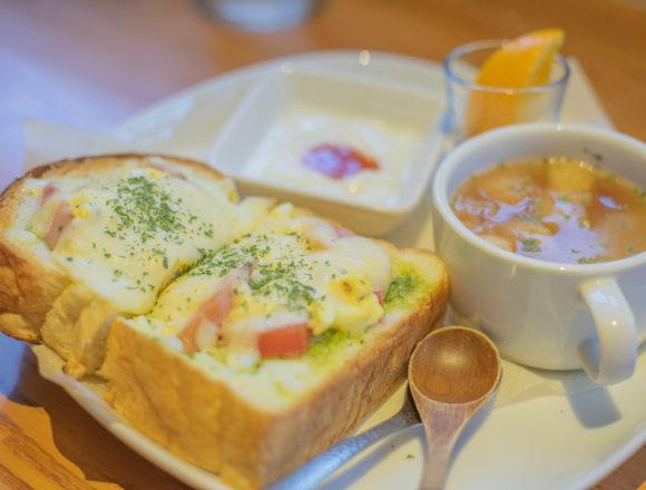 cafe茶蔵のチーズトーストモーニング