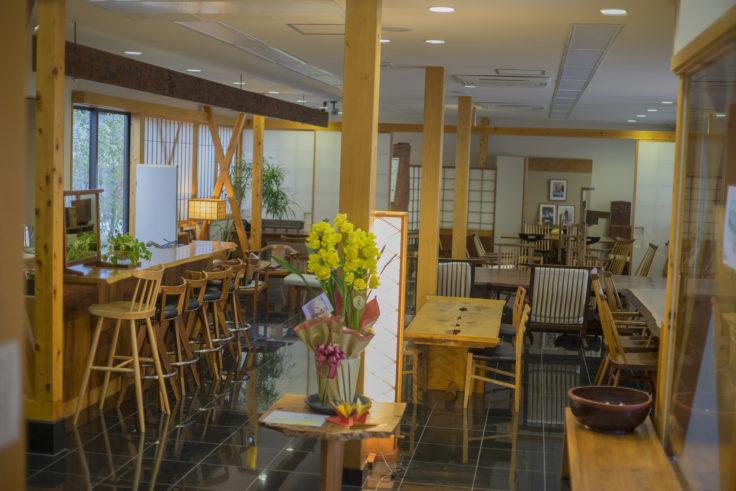 ジョージナカシマ記念館のカフェ