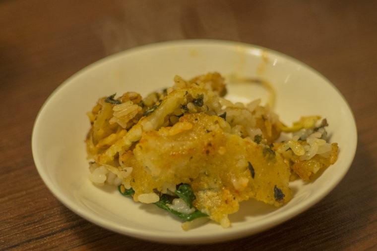 韓国家庭料理サランの石焼ビビンバおこげ