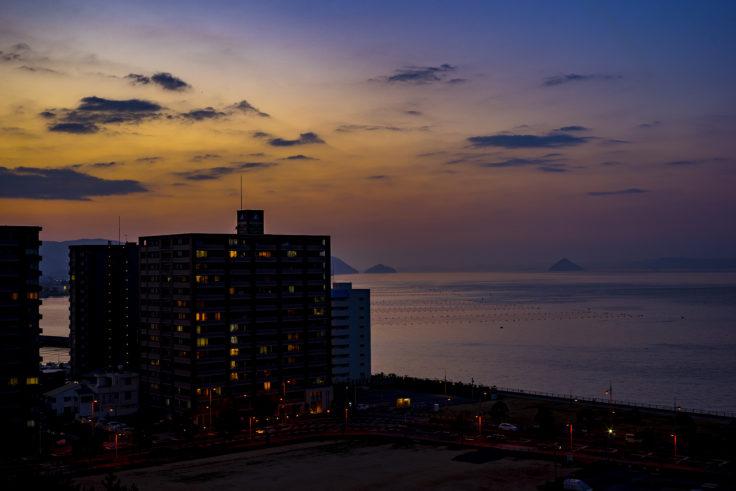 サンポート高松からの夕焼け