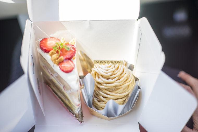 パティスリーサンファソンのモンブランとシフォンケーキ
