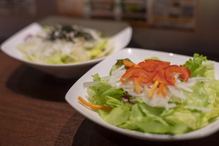 いきなり!ステーキのレタスミックスサラダ