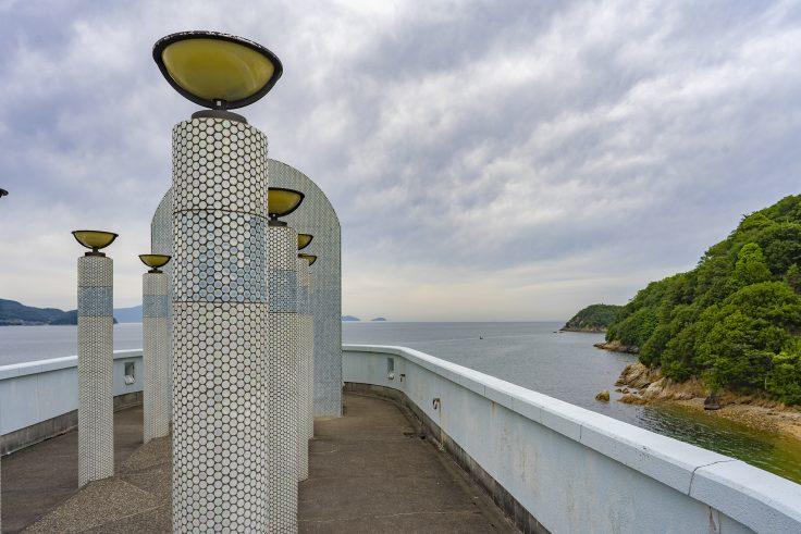 ドルフィンセンター屋上から見た瀬戸内海