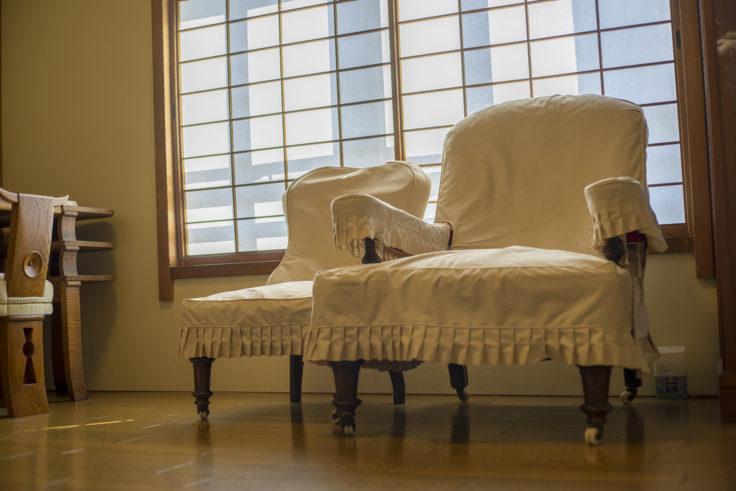 淡翁荘2階迎賓室ソファー