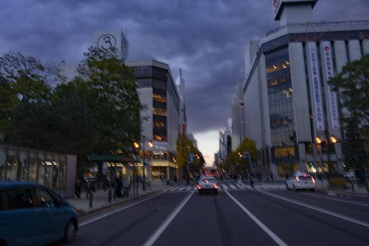 札幌市内交差点