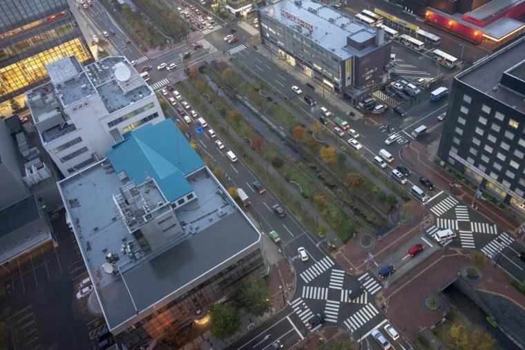 さっぽろテレビ塔から雨の景色6