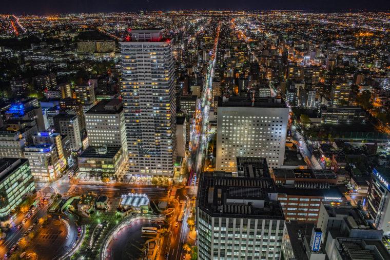 札幌JRタワー展望室からの夜景
