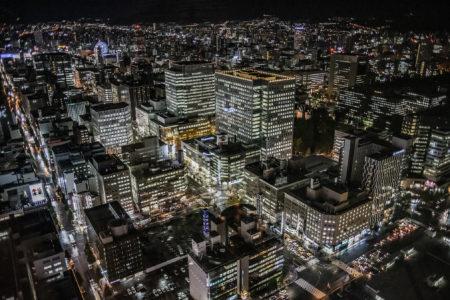 札幌JRタワー展望室からの夜景2