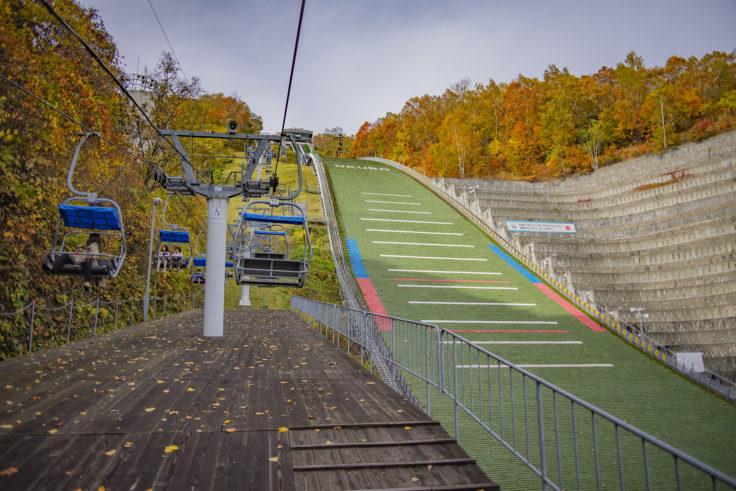 大倉山ジャンプ台リフト