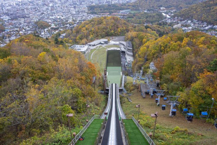 展望台から見たジャンプ台