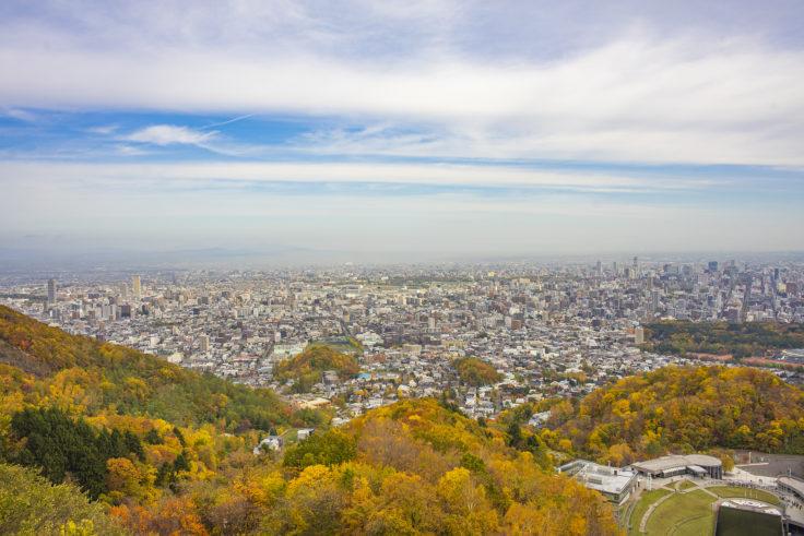 展望台から見た札幌市