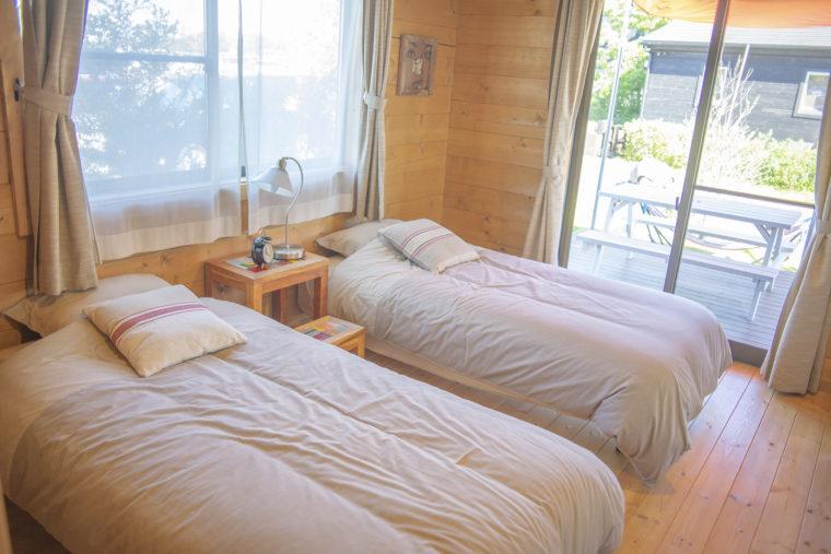 BESS COUNTRY LOGの寝室
