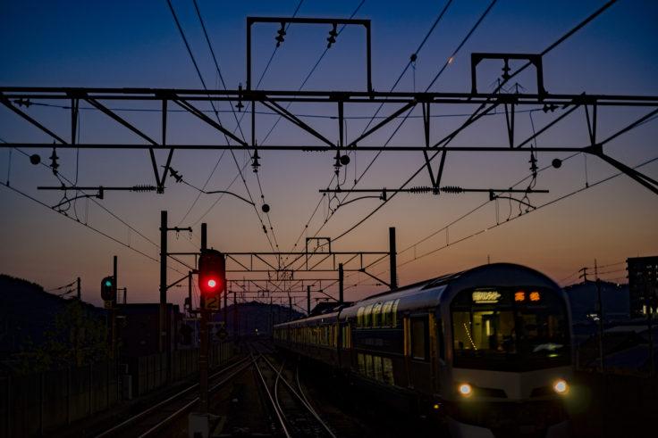 坂出駅の夕焼け