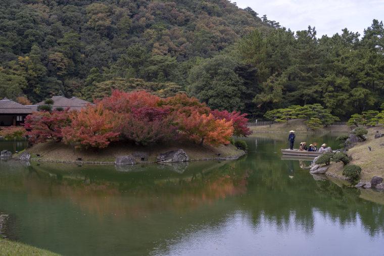 栗林公園天女嶋の紅葉