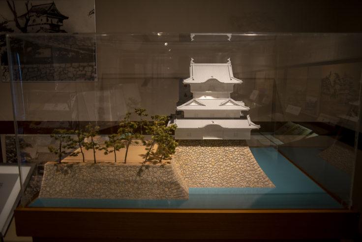 玉藻公園陳列館高松城の模型