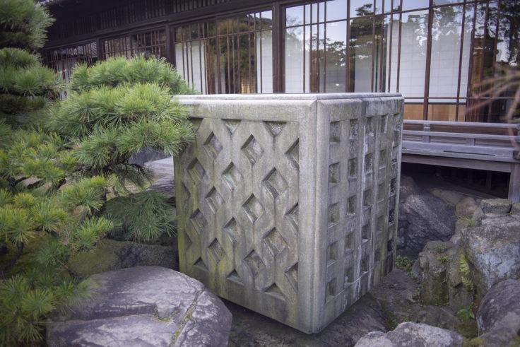 銀閣寺手水鉢