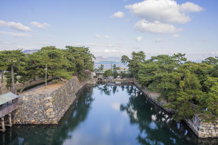 高松城天守台からの眺め