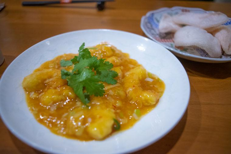 チャイナキッチン弘のエビのチリソース煮