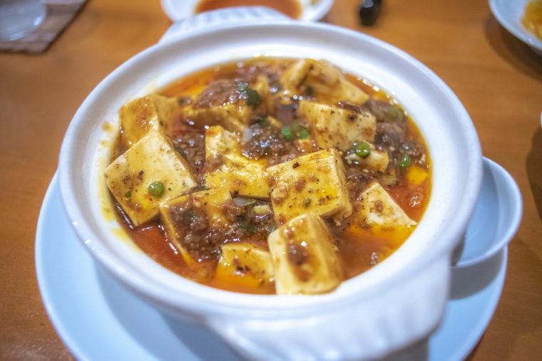 チャイナキッチン弘の土鍋入り四川風マーボー豆腐
