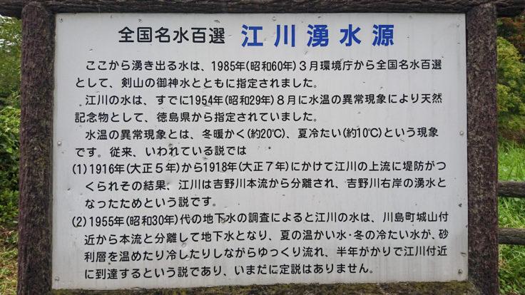江川の湧水説明