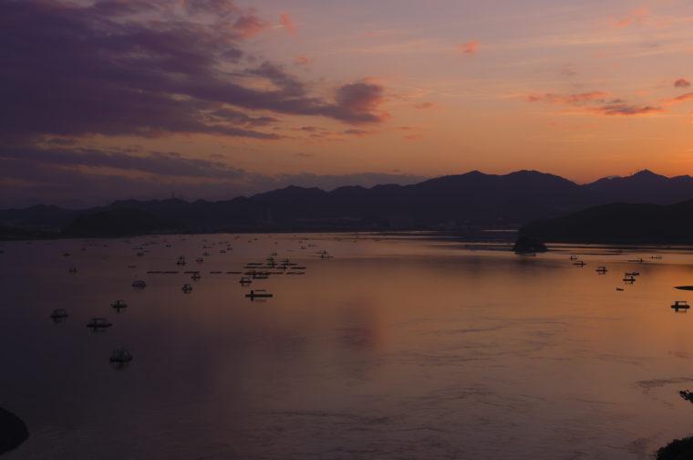 堀越海峡からの夕焼け