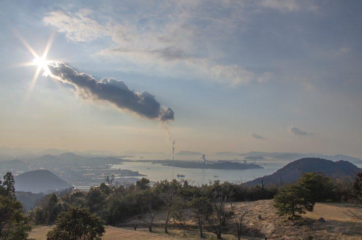 休暇村讃岐五色台から見た瀬戸内海