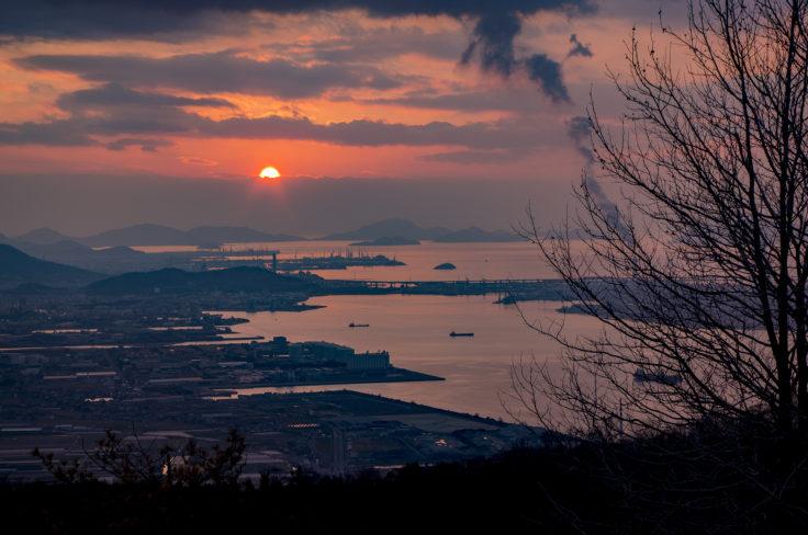 五色台休暇村からの夕焼け