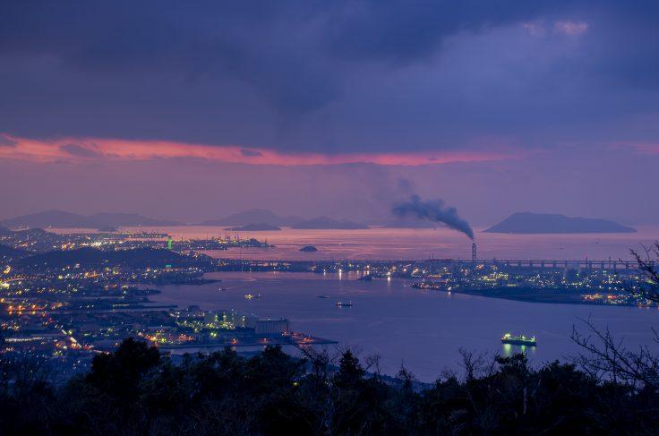 休暇村讃岐五色台から見た瀬戸内海のマジックアワー3