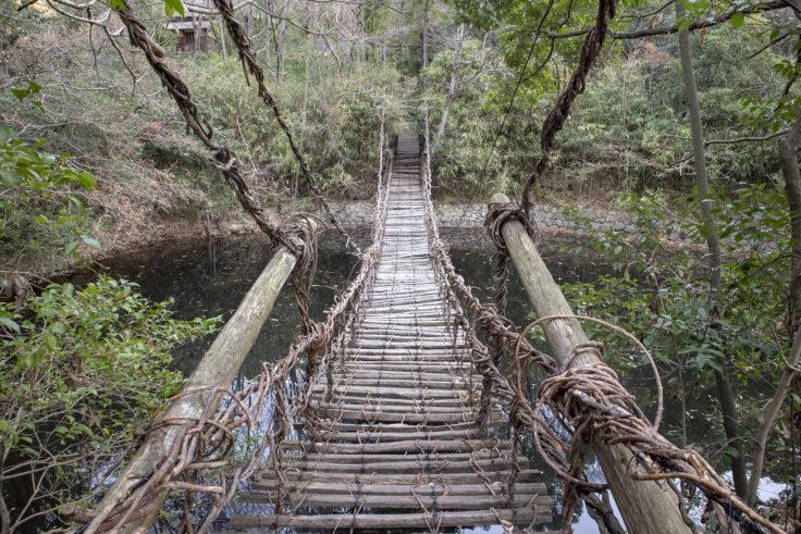 四国村の祖谷のかずら橋2