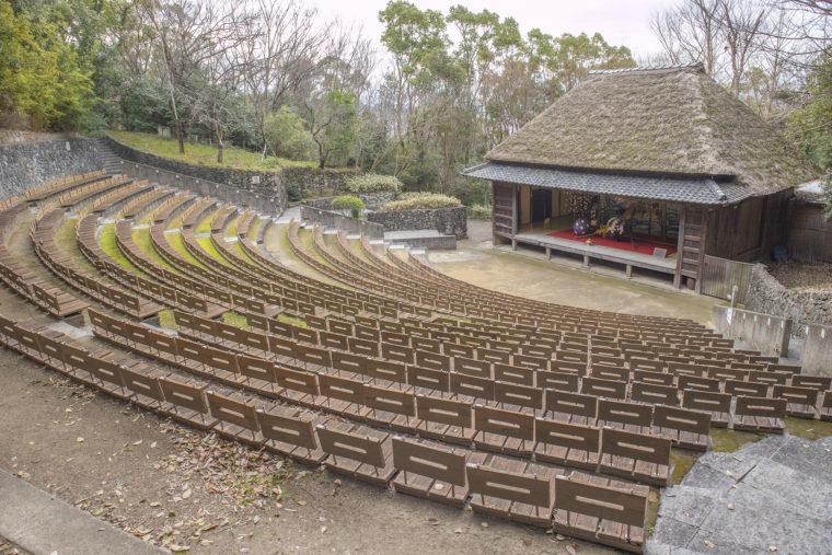四国村小豆島農村歌舞伎舞台遠景