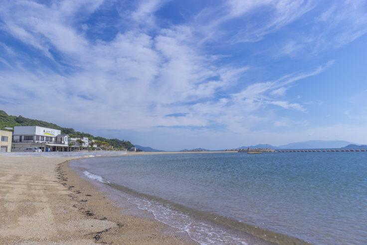 女木島のビーチ