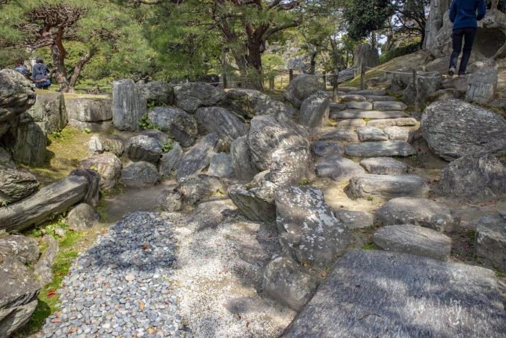 旧徳島城表御殿の枯山水