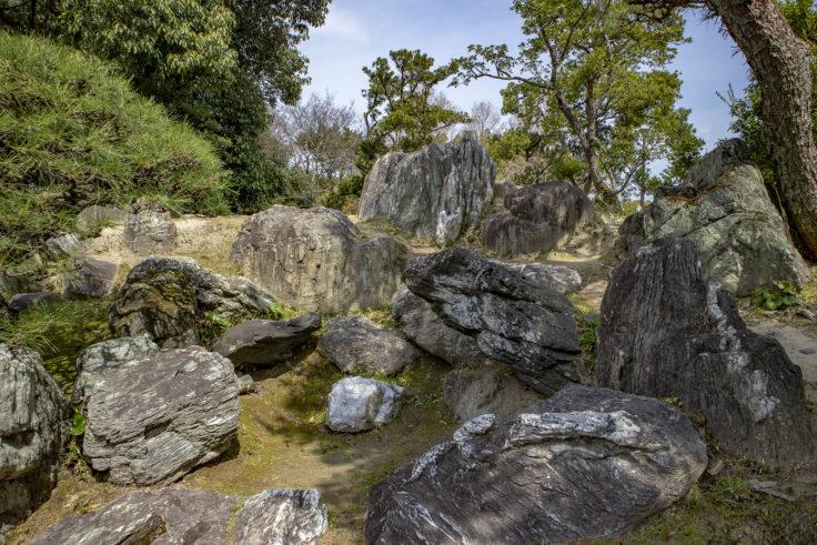 旧徳島城表御殿の庭園内