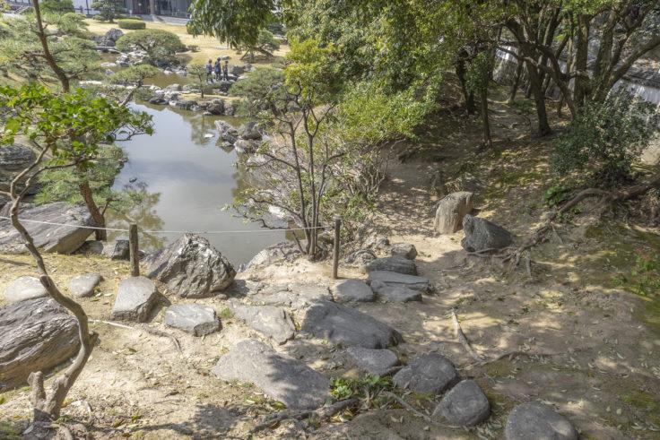 旧徳島城表御殿の池