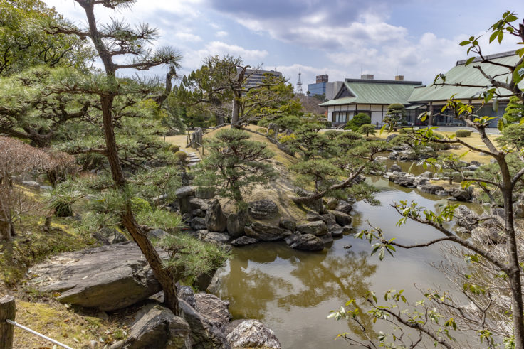 旧徳島城表御殿の心字池