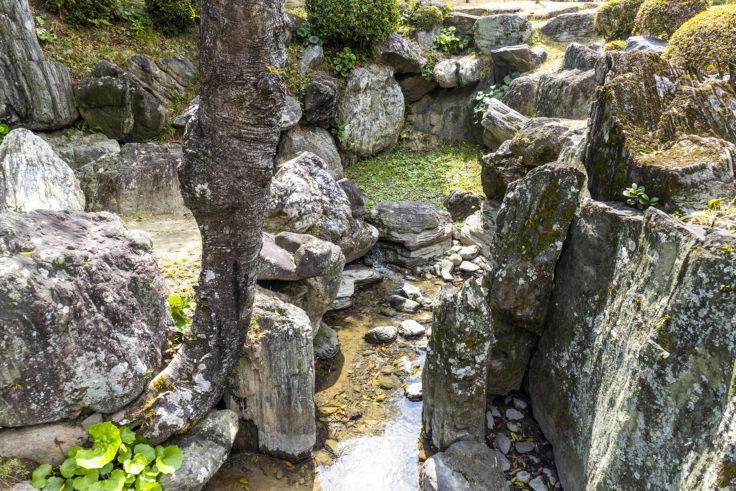 旧徳島城表御殿の池の眺め