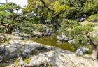 旧徳島城表御殿の池の石