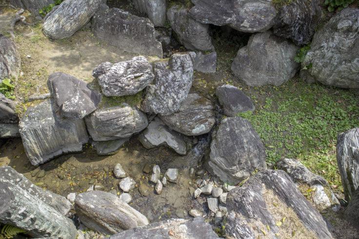 旧徳島城表御殿の池の石2