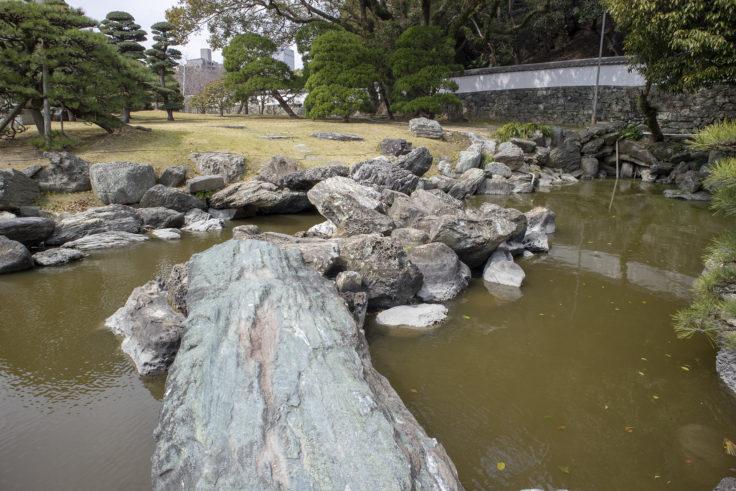旧徳島城表御殿の石の橋