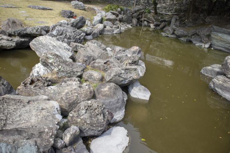 旧徳島城表御殿心字池の石