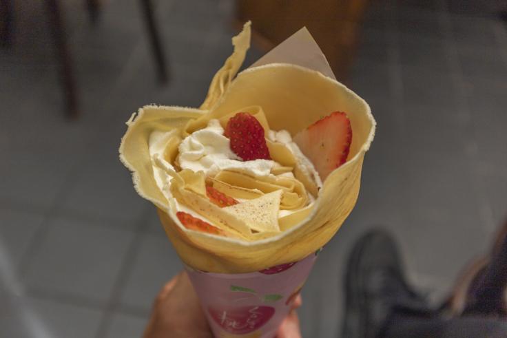 くらしき桃子のクレープ