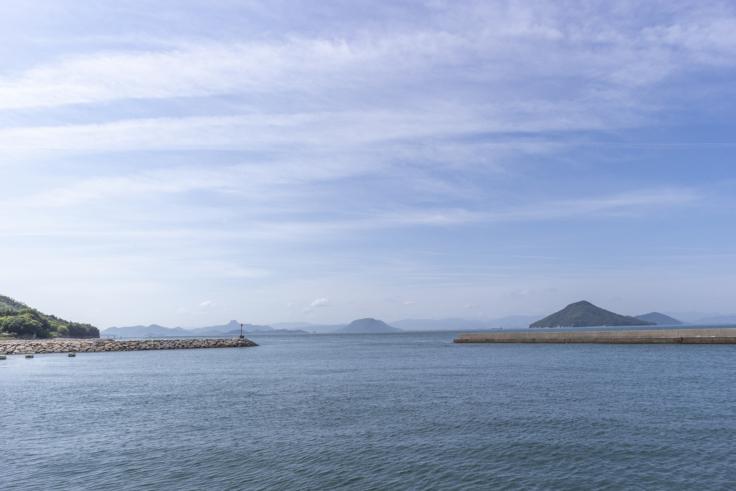 豊島から見た瀬戸内の景色