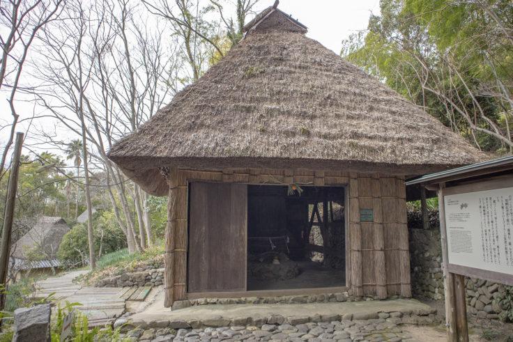 I四国村の楮蒸し小屋