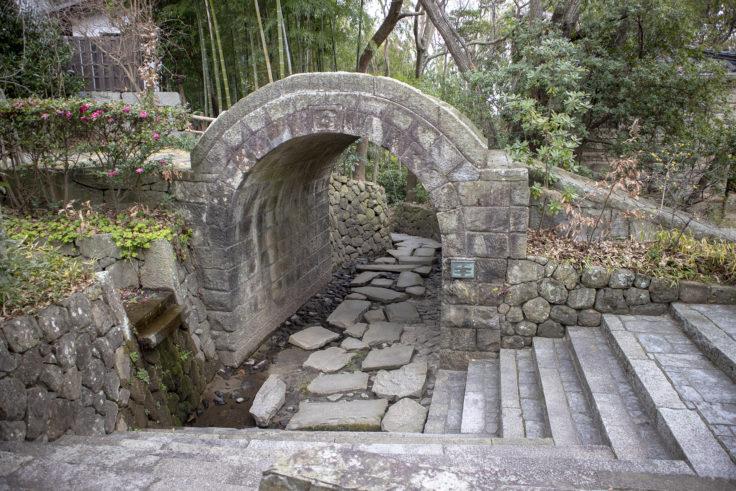 四国村アーチ橋順路
