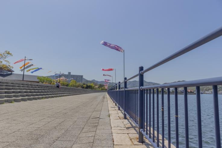 鳴門ウチノ海総合公園の鯉のぼり