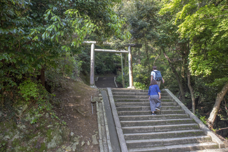 奥社への階段