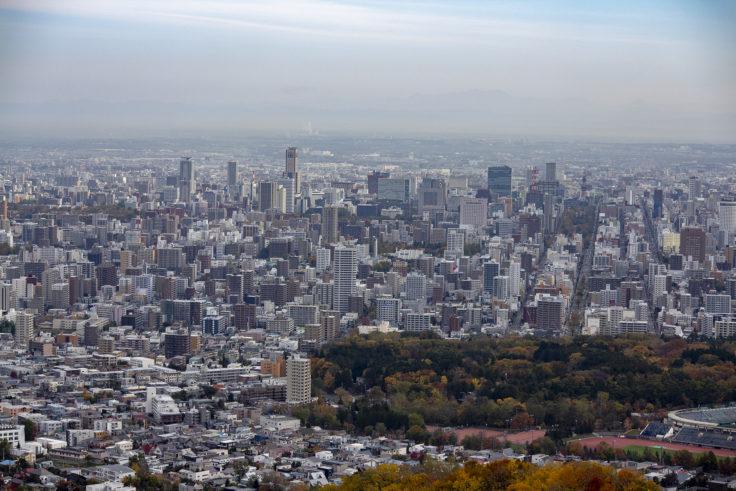 大倉山から見た大通り公園