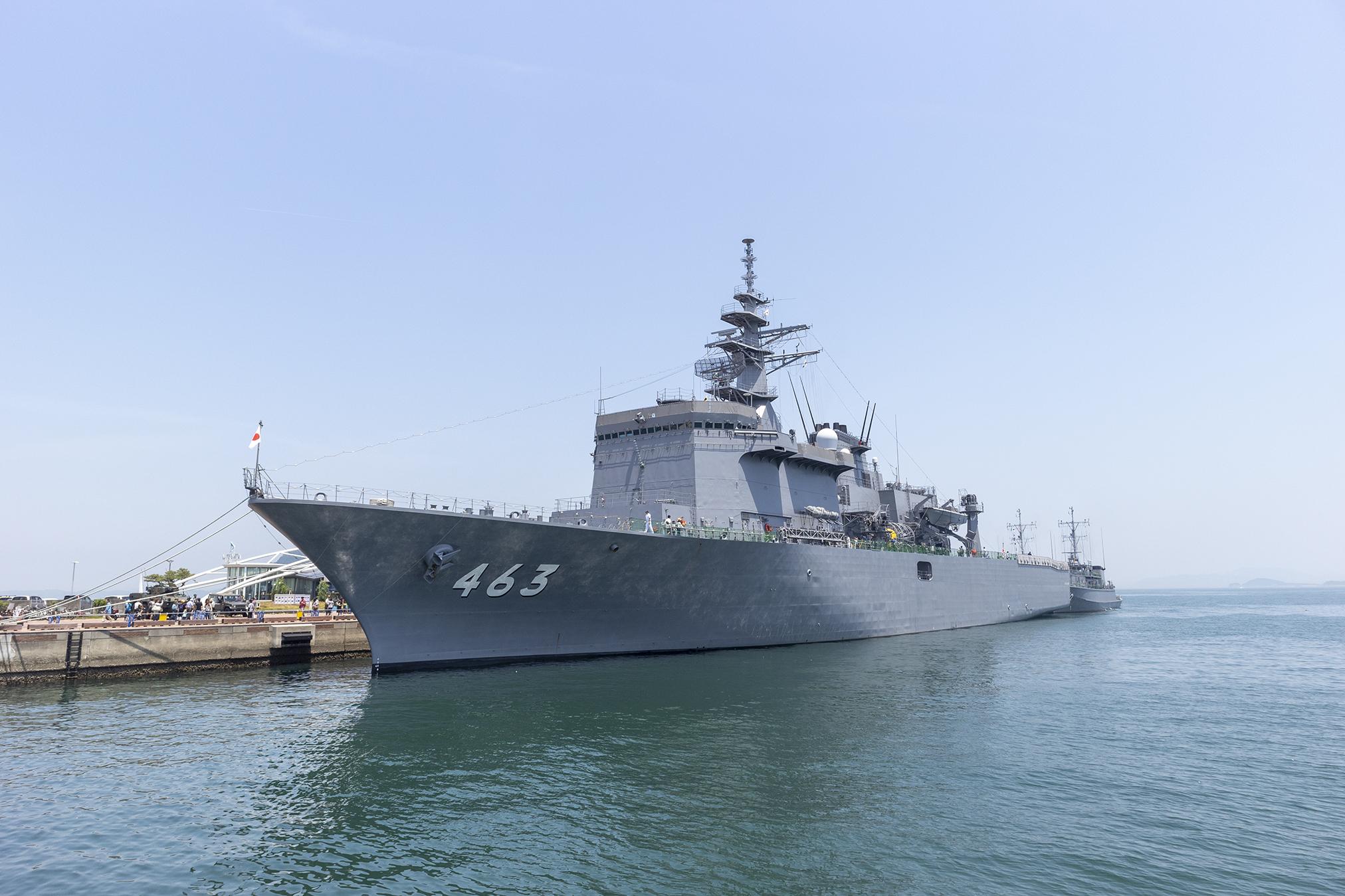 「掃海母艦うらが」と掃海艇「つのしま」「みやじま」IN高松港2019