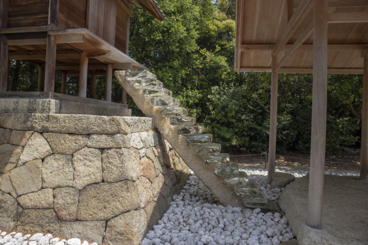 「護王神社 / アプロプリエイトプロポーション」杉本博司の階段